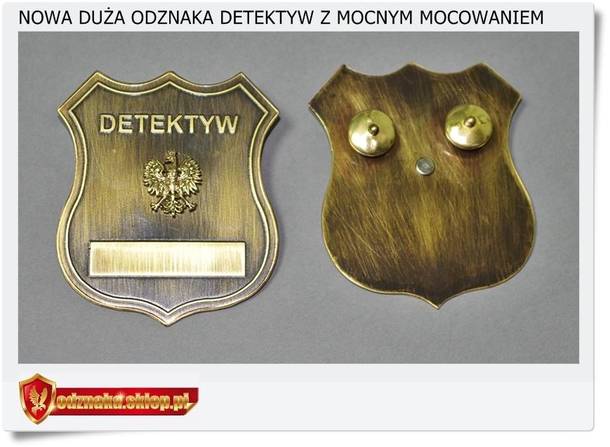 Duża odznaka detektyw